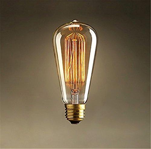 oyxled 1x E2760W ST64Glühlampe Schraube Vintage Retro Glühbirne Glühlampe Edison Altmodische Art Eichhörnchen Käfig 220V (Glühlampen-einbauleuchten Fixture)