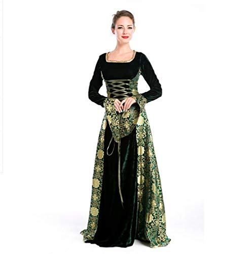 alterliches Kostüm Klassisches Gericht Prinzessin Dress Grüne Königin Bühnenkleid,OneSize ()