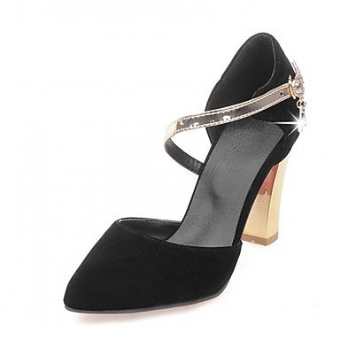 Zormey Frauen Heels Frühling Sommer Herbst Winter Komfort Neuheit Pu-Synthetischen Kunstleder Büro & Amp; Karriere Dress Casual Stiletto Heel Rivetblack US6 / EU36 / UK4 / CN36