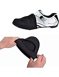 iPobie Cubierta para Zapatillas de Ciclismo, apatos Toe Cover Bicicleta Corta Zapato Protector térmico (Negro)