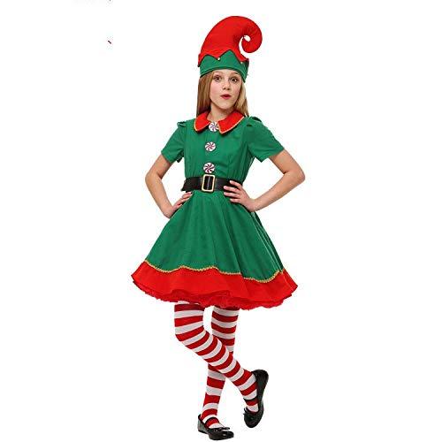 thematys Elfen-Kostüm Weihnachtskostüm - Wichtel Weihnachtself Kostüm für Damen, Herren & Kinder - perfekt für Weihnachten, Karneval & Cosplay (160cm bis 170cm, Weiblich)