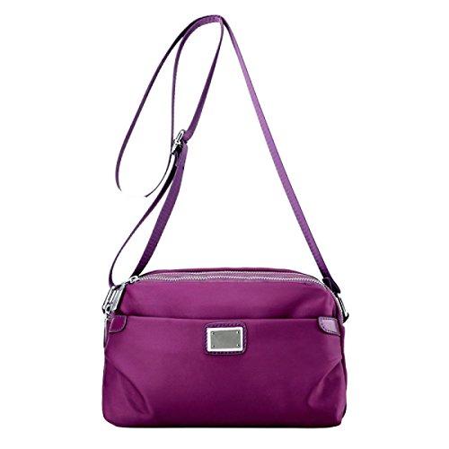 Kuriertasche Kleine Wilde Tuch Reise Freizeit Wasserdichte Nylon Tasche Schultertasche Purple