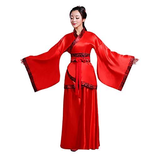 d für Damen - Uralt Chinesischer Stil Tang Anzug Prinzessin Chaise Kleid Performance Kostüm ()