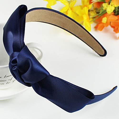 VT BigHome 1 x Haarbänder für Frauen mit großen Schleifen und Elegantem Haarband blau
