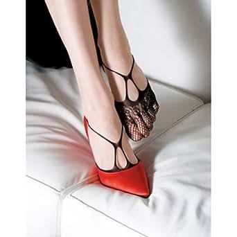 5 Paar Damen sexy Mesh Fischnetz elastisch Knöchel Boot Socken fünf Zehen - schwarz