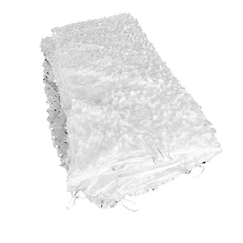 LIYIN-Voiles d'ombrage Oxford-Stoff Waldtarnnetz Premium Mesh Weiß Militär UV-beständiges Netz Mesh Sunblock Shade Cloth für Woodland Camping Outdoor Jagd Schießen -