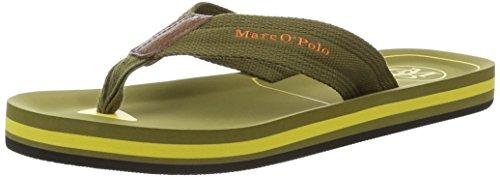 Marc O'Polo70023691003624 Beach Sandal - Sandali Uomo , verde (Grün (khaki/yellow)), 44