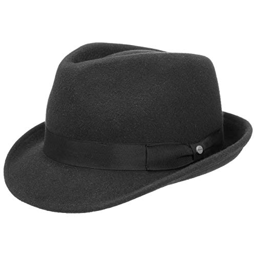 Stetson Elkader Cappello Trilby fedora da uomo S (54-55 cm) - nero 4d27c013e303