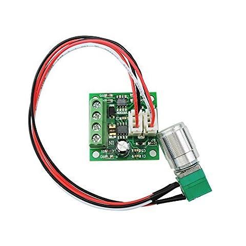 Qunqi 1.8V 3V 5V 6V 12V 2A PWM DC Motor Speed Control /w Potentiometer Switch 1803BKW by Qunqi