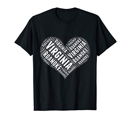 State Heart VIRGINIA Tshirt ROANOKE Tshirt Home Tee