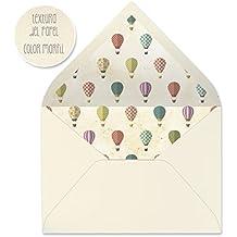 sobres forrados invitaciones de boda-VINTAGE/FLORES/MAPAS 22,5x16,5 cm (globos)