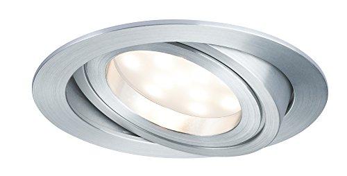 Paulmann 928.33 Premium EBL Set Coin dimmbar satiniert rund schwenkbar LED 3x7W 2700K 230V 51mm Alu gedreht 92833 Spot Einbaustrahler Einbauleuchte (3 Coin Set)
