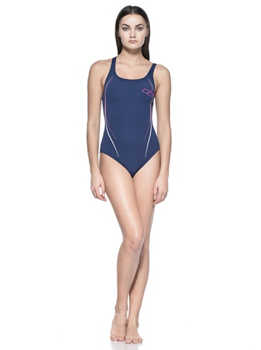 Arena Costume Stars High One Piece Navy/Fucsia IT 48 (INT 44) Navy/Fucsia