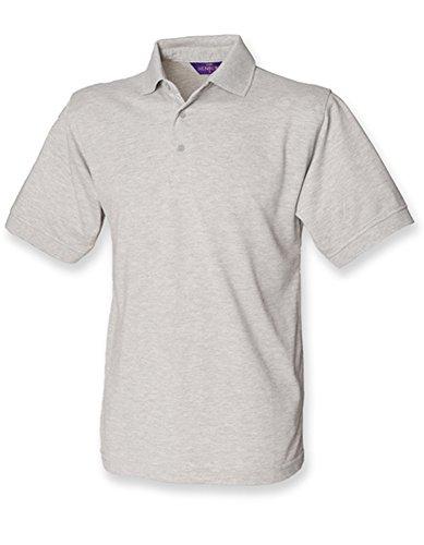 Men`s 65/35 Classic Piqué Polo Shirt Heather Grey