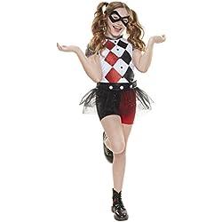 Disfraz de Harley Quinn para niñas y para Todas Ocasiones de Superhéroes de DC Comics, Talla única