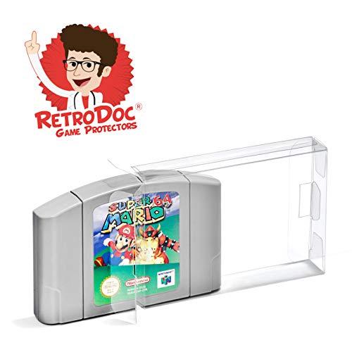 20 Klarsicht Schutzhüllen Nintendo 64 [20 x 0,3MM N64 CART] Spiele Module Passgenau Glasklar (64 Nintendo Mario Spiel Cart)