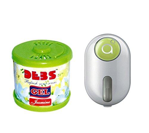 Debonair Combo - Debs 100gm Premium Car/Home/Office Air Freshener Gel - Jasmine& Godrej Click 9 ml - Green  available at amazon for Rs.387