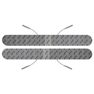 2 Stück 33 x 4 cm ultralange Rücken Elektroden, Spinal Pads, für TENS – EMS – Reizstromgerät mit 2mm-Stecker.