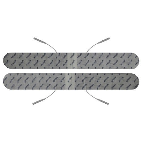 Electrodos espalda con conexión clavija - 2 Parches TENS EMS extralargos - Para electroestimuladores conexión banana 2mm - Almohadillas calidad axion