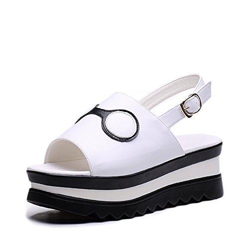 ZPPZZP Ms sandali spessa stile Coreano estate traspirante e tempo libero 38EU