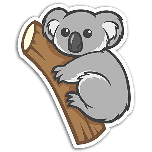 2 x 10 cm Koala-Bär Vinyl Aufkleber - Australien Fun-Aufkleber Laptop Gepäck # 17194 (10 cm groß) -