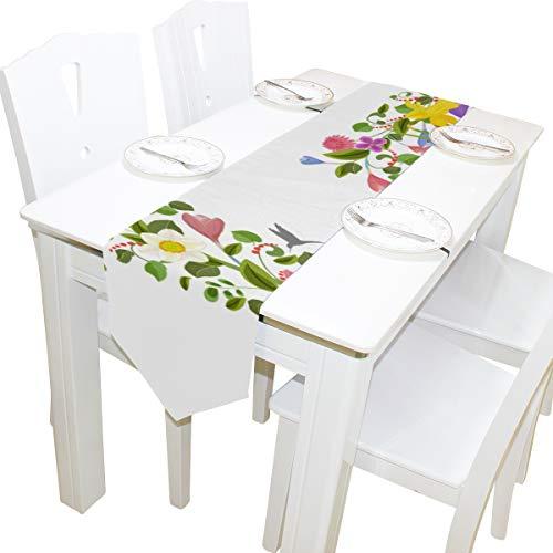 abe G einzigartiges Design Kommode Schal Stoffbezug Tischläufer Tischdecke Tischset Küche Esszimmer Wohnzimmer Startseite Hochzeitsbankett Dekor Indoor 13 x 90 Zoll ()
