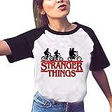 Stranger Things Maglietta per Donna, Maniche Corte Maglia con Stampa 3D Estate Tee T-Shirt Casuale Elegante Camicia Tops Blusa Camicetta Maglietta da Ragazza (3,M)