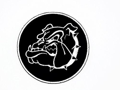 rabana Black Head Pitbull Bulldog Dog Pet Kids Kinder Cartoon Animal Patch für Heimwerker-Applikation Eisen auf Patch T Shirt Patch Sew Iron on gesticktes Badge Schild Kostüm (Black Pitbull-t-shirts)