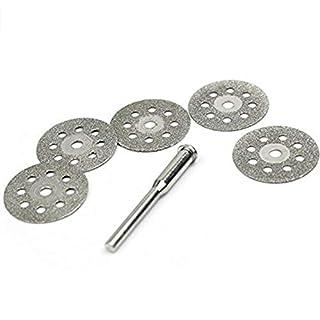 NaiCasy 28 mm Diamant Dremel Räder mit Werkzeug eingestellt Diamant Cut Rotationswerkzeug W/Bohrfutter für Dremel (5pcs Diamantscheibe mit 1 Spindel) Schutz und Sicherheit