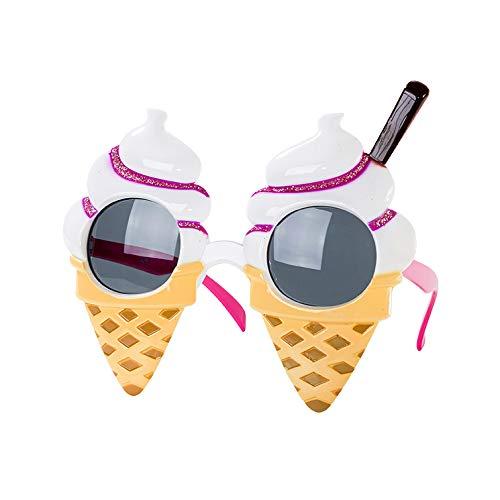 Talking Tables Sonnenbrille in Eistütendesign für Sommerpartys, Konzerte oder Festivals