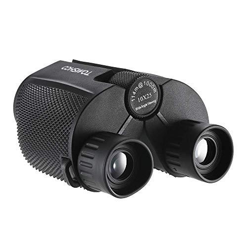 TOMSHOO Jumelles Compactes 10x25 Légère Télescope Binoculaire pour Randonnée Camping Observation des Oiseaux Concert