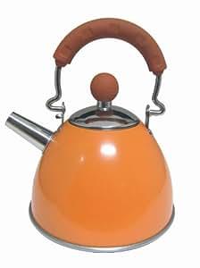 Sefama International 108410 Rétro Mini Bouilloire avec Un Infuseur en Inox Laqué Orange 900 ml