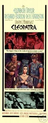 Cleopatra Film Poster Elizabeth Taylor 1963Rare New 3 -