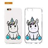 Universecase [2-Pack] Coque iPhone 6S Plus 6 Plus Weißes Klares Einhorn TPU Souple...