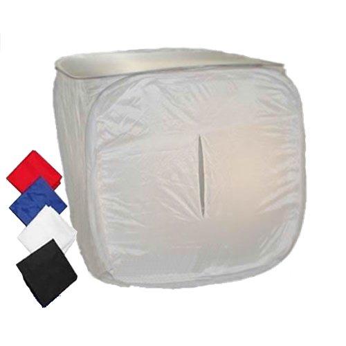 DYNASUN PRO PB1 60x60x60cm Faltbares Lichtwürfel Lichtzelt Cubelight Fotobox Fotostudio Fotozelt mit 4 Hintergrund