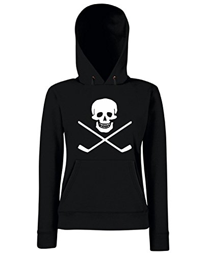 T-Shirtshock - Sweats a capuche Femme OLDENG00649 skull and cross sticks Noir