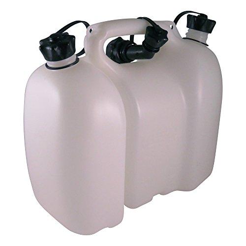 Oregon 562406 - Tanica multipla professionale trasparente, per 6 litri di carburante e 3 litri di olio
