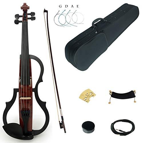 assivholz Fortgeschritten 3-Band EQ Elektrische Violine Geige Set mit Ebenholz Beschläge (SDDS1601) ()