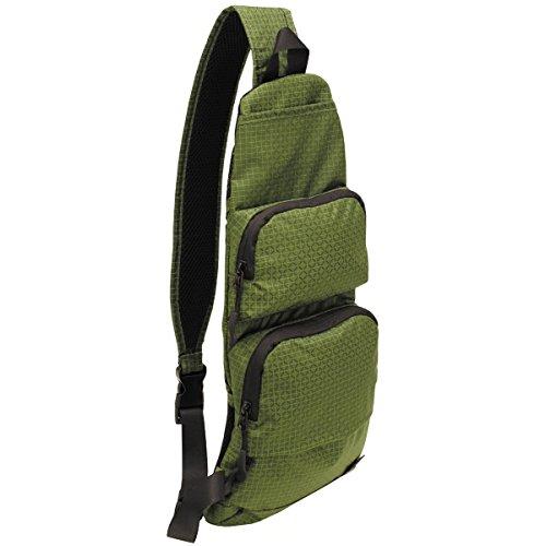 BKL1® Schulter Umhängetasche oliv Rip Stop Nylon Slingpack EDC Outdoor Sling Bag 1423 - Rothco Grün