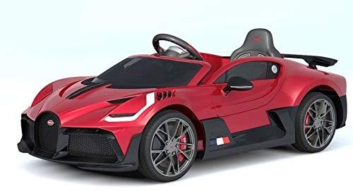 Indalchess Coche eléctrico Infantil Bugatti Divo, Mando RC, Rojo
