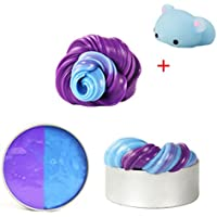 VENMO Color Changing Fluffy Floam Slime Heat Sensitive No Borax Safe And Non Toxic Soft Playdough In a Tin Tub Clay Toy Scented Stress Relief Toy For Kids