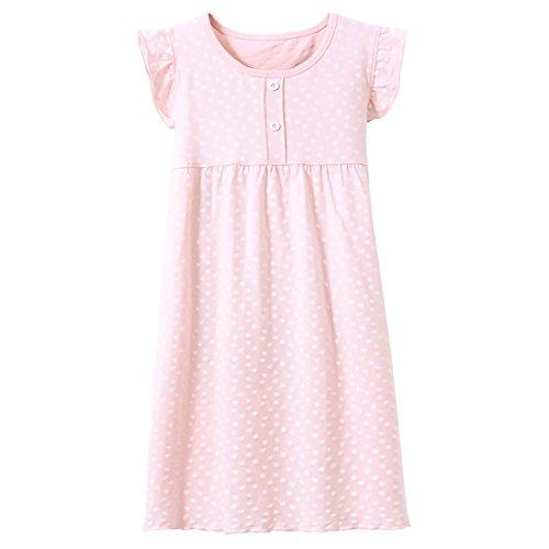 Allmeingeld cuore pois Camicie da notte bambine e ragazze cotone Pigiami e vestaglie rosa per 8 anni