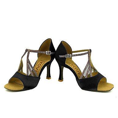Zapatos De Baile-personalizables-mujeres-latinoamericanas Baile / Personalizado-tacón-satén-satén-negro / Azul / Amarillo / Rosa / Púrpura / Rojo Desnudo