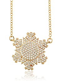 SoulShine 18k Gold Plated Necklace With Cubic Zirconia Latest Design Birthday Anniversary Love Gift For Women...