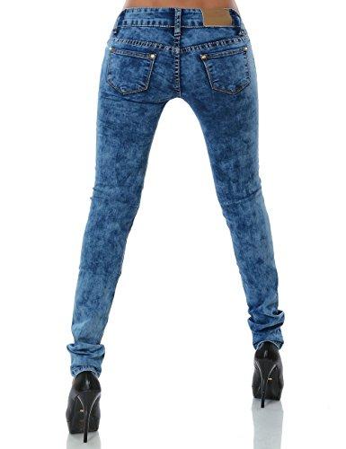 Damen Jeans Hose Skinny (Röhre) No 13752 Blau