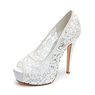 RTRY Donna Primavera Estate Autunno Matrimonio Piattaforma Stiletto Heel Platform Nero Rosa Bianco Avorio US8.5 / EU39 / UK6.5 / CN40