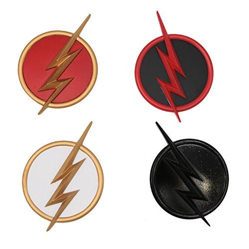 Cosplay Kostüm Abzeichen 4pc Set Erwachsene Verrücktes Kleidung Merchandise Zubehör Legierungen Metall Pin Props (Für Erwachsene Flash Kostüm)