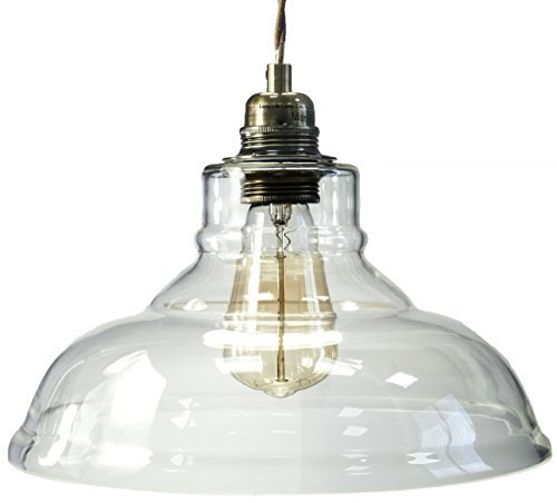 2-Pack-Modern-Vintage-Glass-Chandelier-Shade-Pendant-Hanging-Ceiling-Light-E27-Clear-Glass
