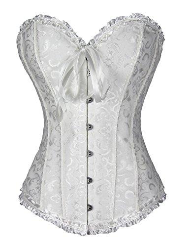 Stay Damen 819 Vollbrust Corsage Bauchweg Korsage Top Plus Size 6X-Large White