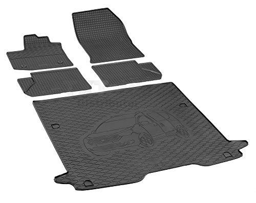 Passende Gummimatten und Kofferraumwanne Set geeignet für Dacia Dokker ab 2012ein Satz